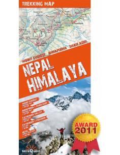NEPAL HIMALAYA Trekking Map