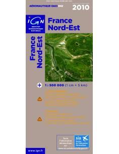 Carte OACI Nord / Est 2010 plastifiée