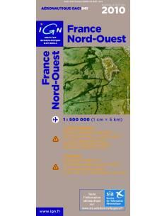 Carte OACI Nord / Ouest 2010 plastifiée