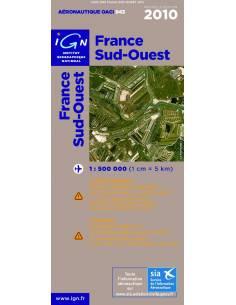 Carte OACI Sud / Ouest 2010 plastifiée