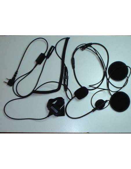 Micro + écouteurs plats casque ouvert EARCOM HS-4000-PRO
